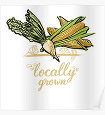 Locally Grown Vegetables Poster