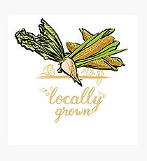 Locally Grown Vegetables Photographic Print