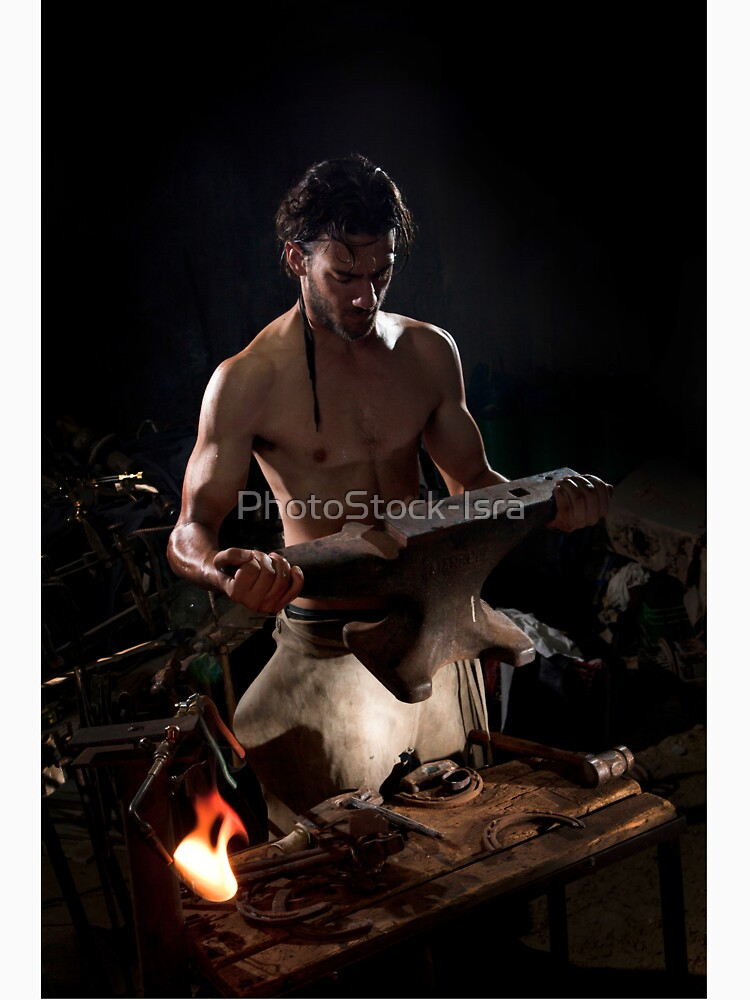Old style manual labour Blacksmith  by PhotoStock-Isra