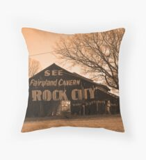 see rock city! Throw Pillow