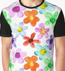 Colorful watercolor flowers Graphic T-Shirt