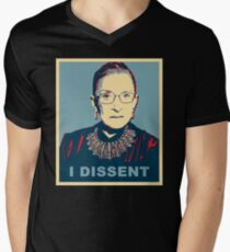 Notorious RBG I DISSENT Men's V-Neck T-Shirt