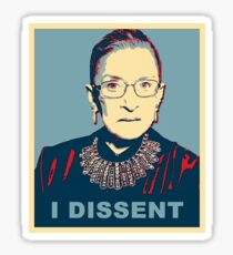 Notorious RBG I DISSENT Sticker