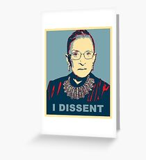 Notorious RBG I DISSENT Greeting Card