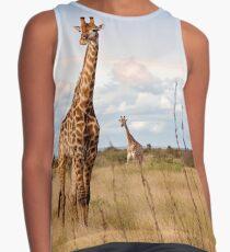 Giraffes on the Plains Contrast Tank