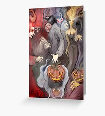 Ghostly party  Greeting Card