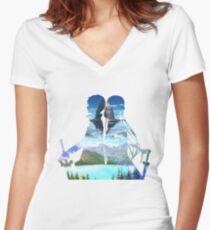 Sword Art Online Women's Fitted V-Neck T-Shirt