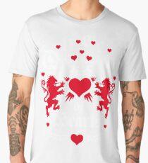Queen of Hearts Queens Crown Lions True Love Forever Men's Premium T-Shirt