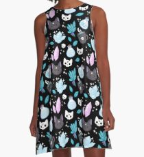 Herb Witch // Black A-Line Dress