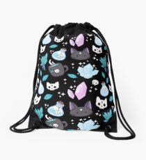 Herb Witch // Black Drawstring Bag