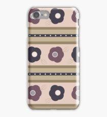 Maudlin Mauve- Flower Stripes iPhone Case/Skin