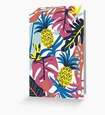 Pineapple + Jungle  Greeting Card