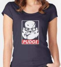 Pudge Dota 2 Black Background Women's Fitted Scoop T-Shirt