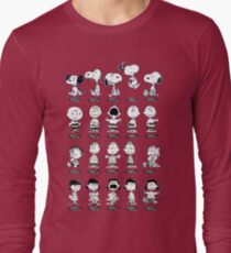 Peanuts through the ages Long Sleeve T-Shirt