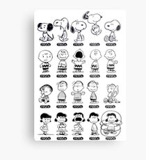 Peanuts through the ages Metal Print