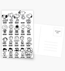 Peanuts through the ages Postcards