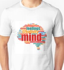 Brain Shape Mind Word Cloud Unisex T-Shirt