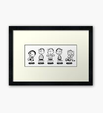 Linus, Snoopy, Peanuts, through the ages Framed Print