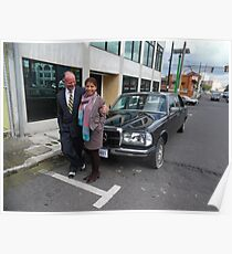 LIMO MERCEDES 300D W123 LONG WHEELBASE SEDAN COSTA RICA Poster