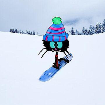 Snowboarding Cat by JohnsCatzz