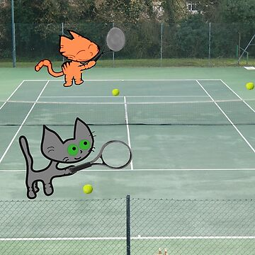 Tennis Cats by JohnsCatzz