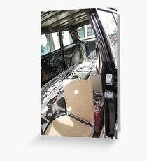 LIMO 300D W123 MERCEDES LONG WHEELBASE SEDAN COSTA RICA Greeting Card