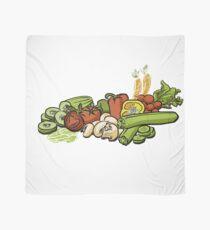 Sketched Vegetables Scarf