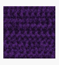 Purple Order in Digital Chaos Photographic Print