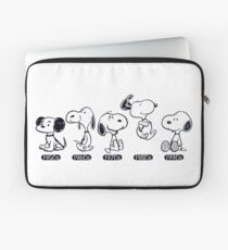 Snoopy through the ages, Peanuts  Laptop Sleeve