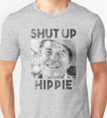 Halt die Klappe Hippie Slim Fit T-Shirt