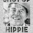 Halt die Klappe Hippie von kjanedesigns