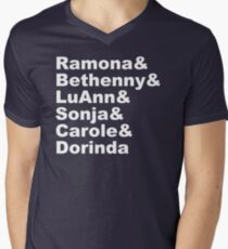 Real Housewives of NY &&& Men's V-Neck T-Shirt