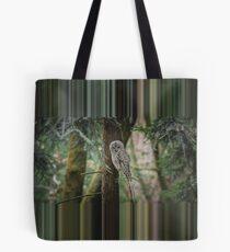 Glitch Owl Tote Bag