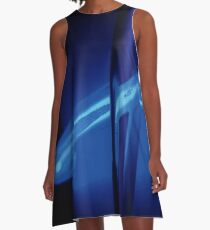 Neon Ice Blue A-Line Dress