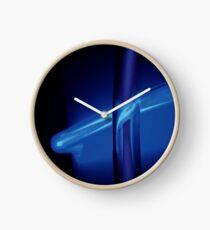 Neon Ice Blue Clock