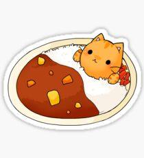 Kare Raisu cat - Curry rice cat Sticker