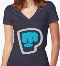 Bro Fist! Women's Fitted V-Neck T-Shirt
