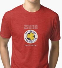 Letterkenny Forecheck Backcheck Paycheck Tri-blend T-Shirt