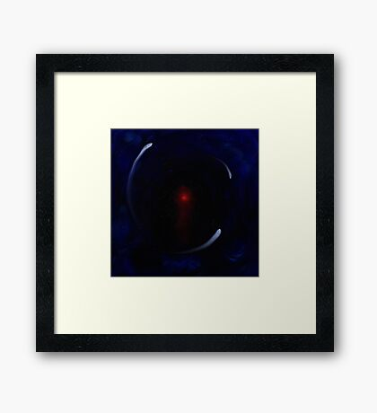 Black hole of grief Framed Print