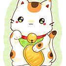 «Green manekineko cute japan lucky cat» de linkitty