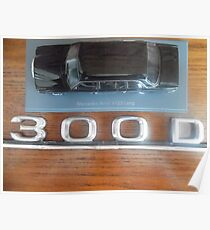 MERCEDES LIMOUSINE 300D W123 LONG WHEELBASE SEDAN COSTA RICA Poster