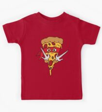 Red Ninja Pizza Kids Tee