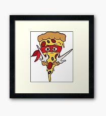 Red Ninja Pizza Framed Print