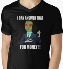 I can answer that... Men's V-Neck T-Shirt