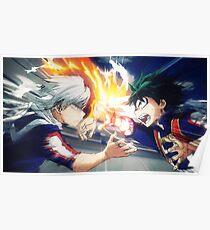 My Hero Academia Midoriya vs Todoroki Poster