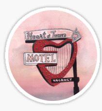 Heart Motel Sticker