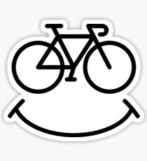 Bicycle Smile Sticker