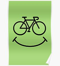 Bicycle Smile Poster