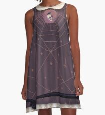 Crow and Skull Collage A-Line Dress