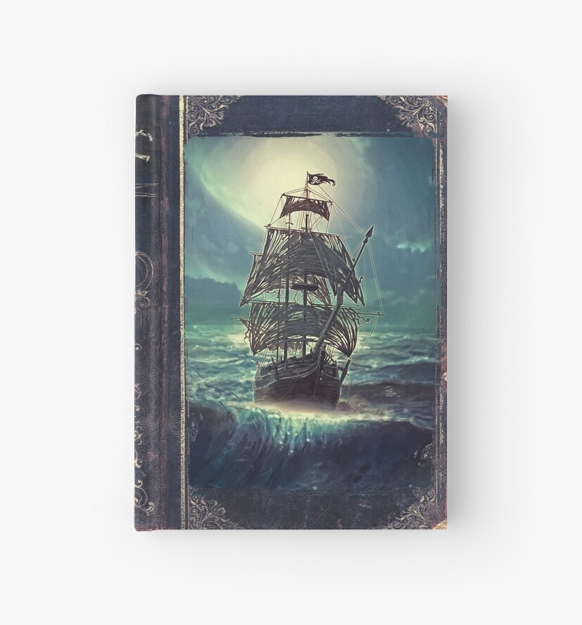 «Ghost Pirate Ship at Night» de Eva Nev